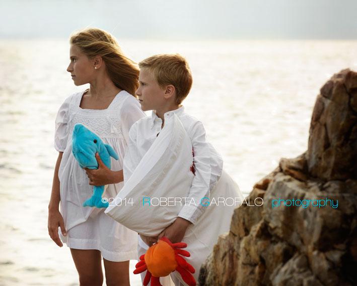 Ritratto di bambini in spiaggia. Roberta Garofalo, Fotografo professionista di Maternità, Neonati, Bambini e Famiglie, Roma