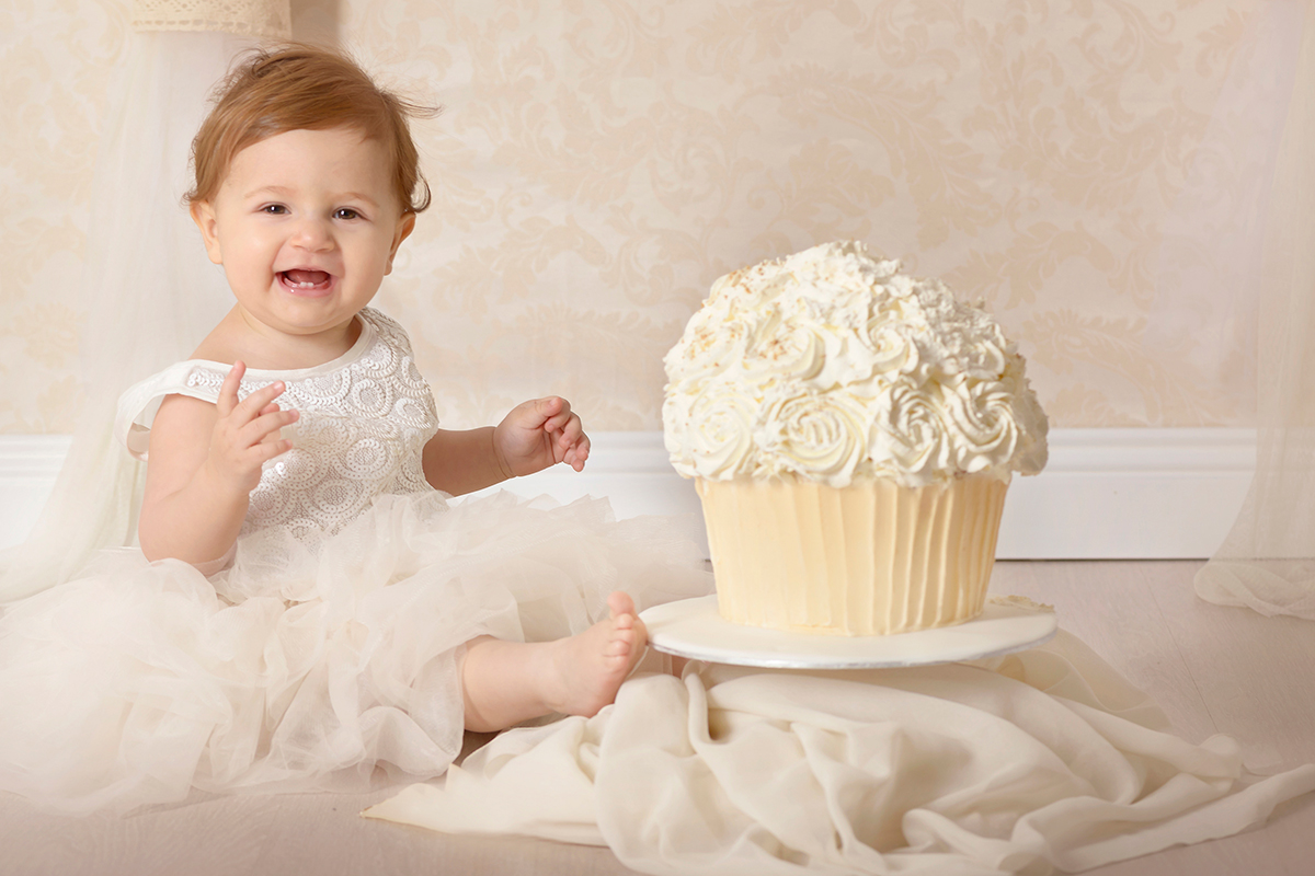 Sessione fotografica Smash cake, primo compleanno, Roma.