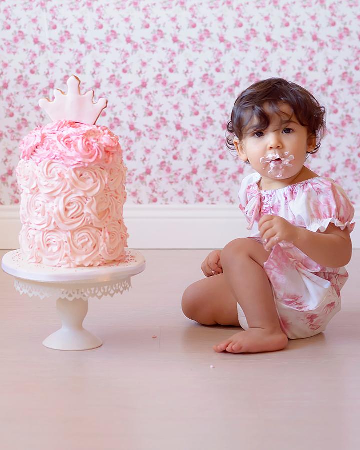 Servizio fotografico Smash cake, primo compleanno, Roma.